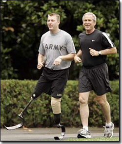 Begge and President Bush Jogging