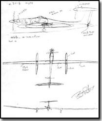 Global Flyer Original Napkin Sketch