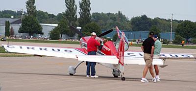 Patty Wagstaff prepare to takeoff