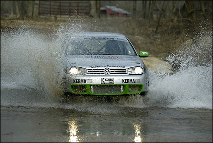 RallyVW through water