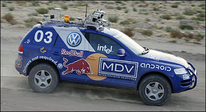 Stanley Races to First in 2005 Darpa Challenge