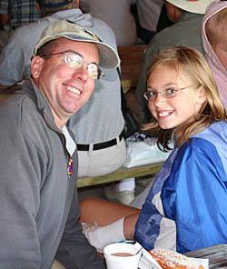 Brett Hunter and daughter