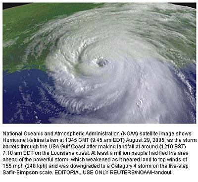 Katrina Cat 4 Hurricane makes landfall