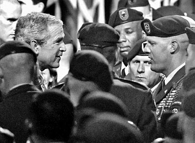 President Bush Greets Airbourne Troops