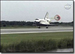Discovery Returns Safely