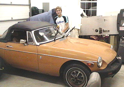 Taylor with 1975 MGB Project