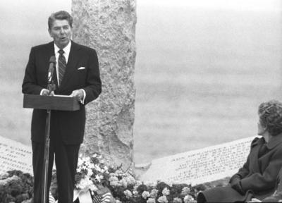 Ronald Reagan at Pointe Du Hoc
