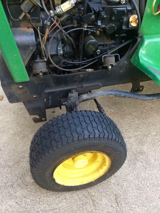 John Deere Turf Tractor Tires : Replacing tires on the john deere lawn tractor my