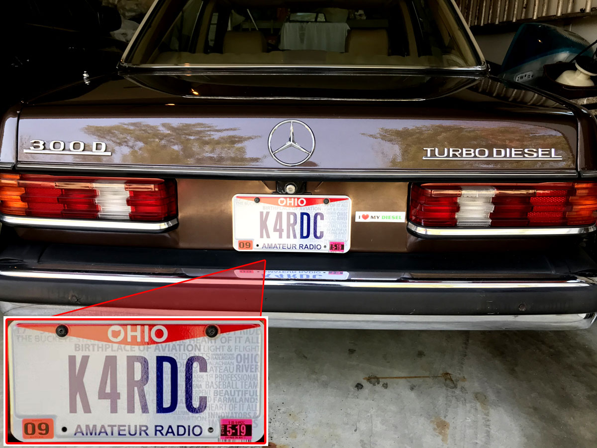 New amateur radio plates for the MB 300D Turbodiesel | My Desultory Blog