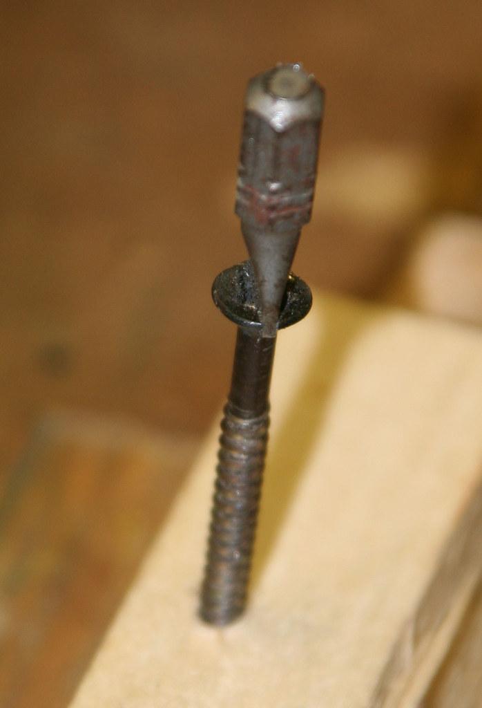 bit in new screw slot