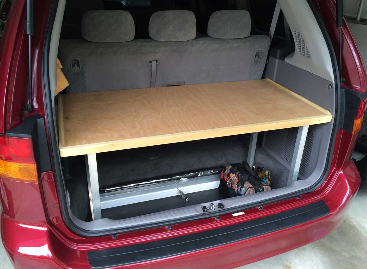 My 2002 Honda Odyssey Gains A Shelf And Workbench My